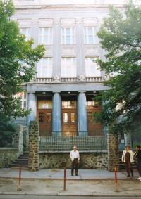 Building of secondary school in Ústí nad Labem which Matti attended. 1990s