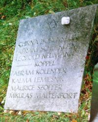 Mass grave in Halberstadt in Germany where her father Leopold Neumann was buried. Date unknown.