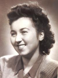 Ruth Mittelmann (Charlotta Neumannová). Bratislava, January 1949.