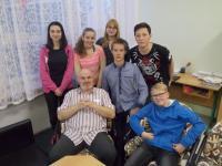 team from the school ZŠ Školní 75 Příbram with Josef Evan