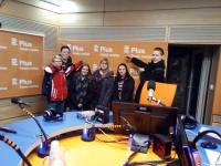 team from school ZŠ Školní Příbram in the Czech radio