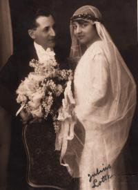 Wedding photograph of parents, 1924
