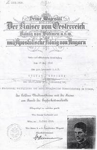 Gustav Steiner in Austro-Hungarian army
