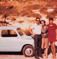 Shaul, Zora, wife Eva, Israel 1975