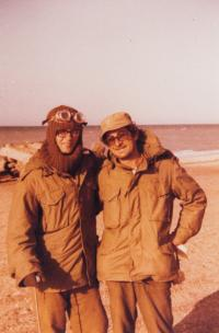 Shaul (right) during the Jom Kipur war, 1973