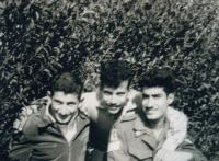 Shaul with friend, Rishon le-Zion, 1958