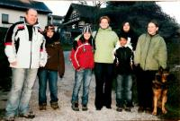 Hana (first right) with her son Petr, his wife and foster children, Vrchlabí 2008