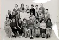 Teachers of the Vrchlabí Gymnázium, Hana 3rd left bottom, 1990/91