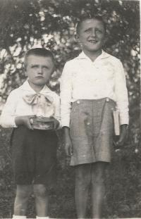 Cousins Slávek and Václav Bešt, who died on July 13, 1943 in Český Malín