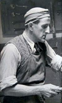 Father August Masár in his joinery workshop (40´s)