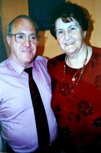 August Masár with his sister Alžbeta (90´s)