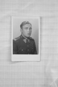 Alois Denemarek as a soldier