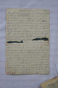 Letter from his Mum from Ravensbruck