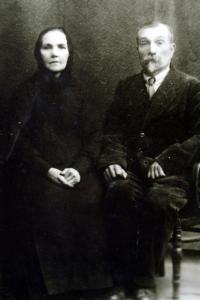 Parents of her mother's. Her grandfather died in an air raid