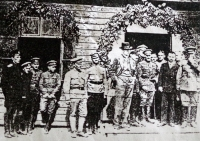 T.G.Masaryk with the Legionnaires (the 1st man on the right of Masaryk is Marie's uncle)