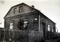 The house of grandfather Jelínek, the only one that remained standing after the air raid