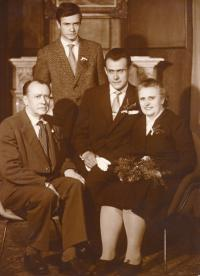 1960, husband Mirek Koval, parents and brother Vladimir