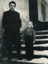 1954 - father Jiri Jilek with Anezka