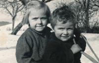 1954 - Anezka and brother Ondřej