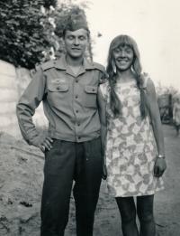 1970 - with brother Ondrej in Litomerice