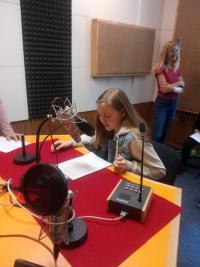 Recording of the reportage in studio