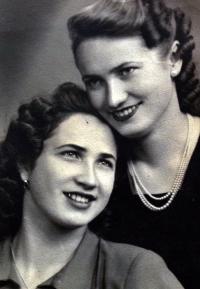 With sister Eliška