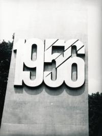 1981 Poznan - Exposing the memorial to the rebellion in 1956