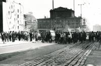 1983, Poznan, demonstrations against official celebrations on May 1