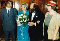 1993 - wedding with Cestmir Klos