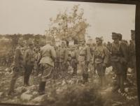 Dušan's father regiment in the world ward I