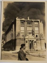 Slovac national museum after the bombing, pictured by the witness