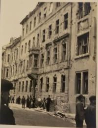 Bratislava after the bombing, pictured by the witness