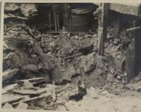 Wine-house at Vysoká street after the bombing, pictured by the witness
