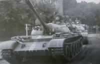 a soviet tank in Bratislava during the august '68, pictured by the witness