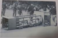 a street riot in Bratislava during the august '68
