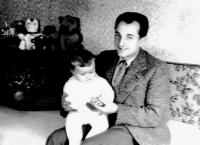 Husband Vincent with daughter Oľga