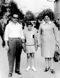 Hanzel's family in 1968y.