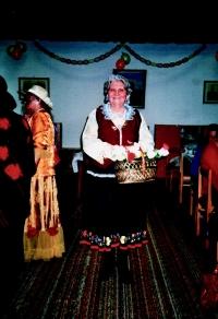 In traditional folk wear from Bojnice in present 1