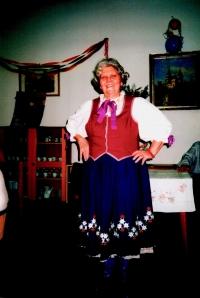 In traditional folk wear from Bojnice in present 2