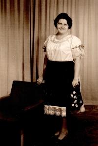 In traditional folk wear from Bojnice in 70-ties