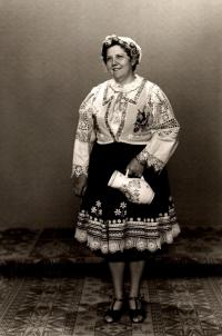 In traditional folk wear from Bojnice in 70-ties 2