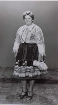 In traditional folk wear from Bojnice in 70-ties 3