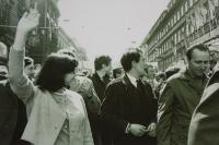 May Day parade in 1968: KAN members