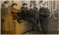 Tomáš Lom, 3rd from the right, 1945