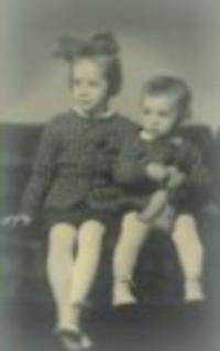 Ivan Kosenko with his sister