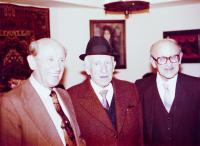 Brothers Lebovič (form the Left: Heinrich, Max, Henuš; 1982)