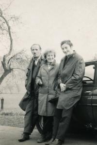 Lotte Kozová with Her Husband and Son (Late 1950s)