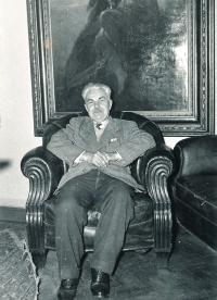 Grandfather Jan Bureš, around 1960
