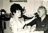 Abbé's mother and stepfather Vladimír, 1961