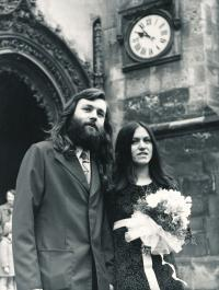 Abbé and Dáda, wedding picture